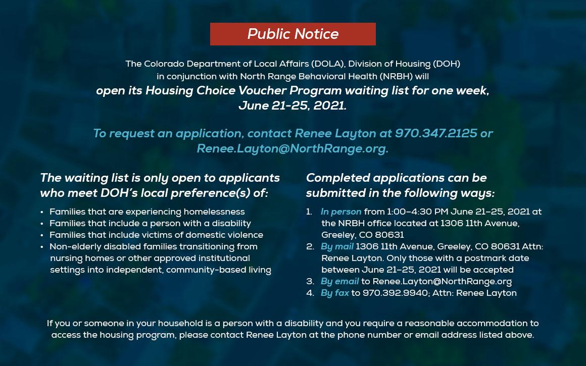 Public Notice Information